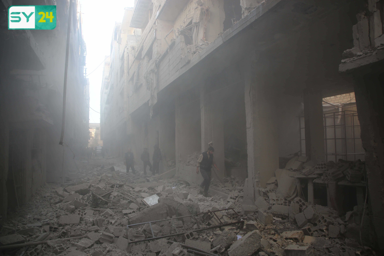قوات النظام استهدفت الغوطة الشرقية خلال هذه الفترة بـ 905 غارات جوية