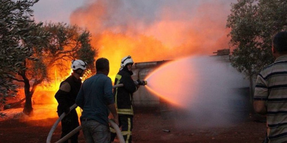 الحرائق في مخيمات إدلب