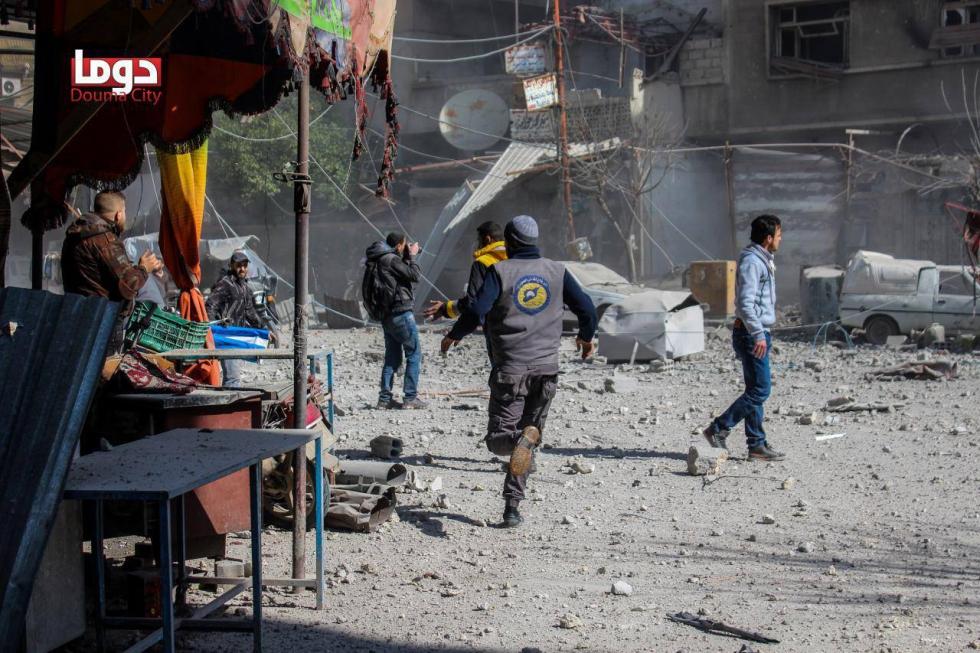 """قال الحريري خلال اللقاء إن """"فرق الانقاذ تكاد تقف عاجزة تماما أمام القصف المتواصل من مختلف الأسلحة شديدة الانفجار والمحرمة دولياً"""""""
