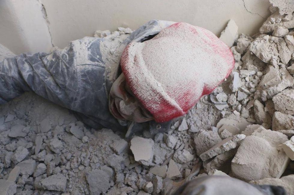 الحركة كانت شبه متوقفة في مدينة دوما بعد الاستخدام المتكرر من قبل النظام لغاز الكلور السام