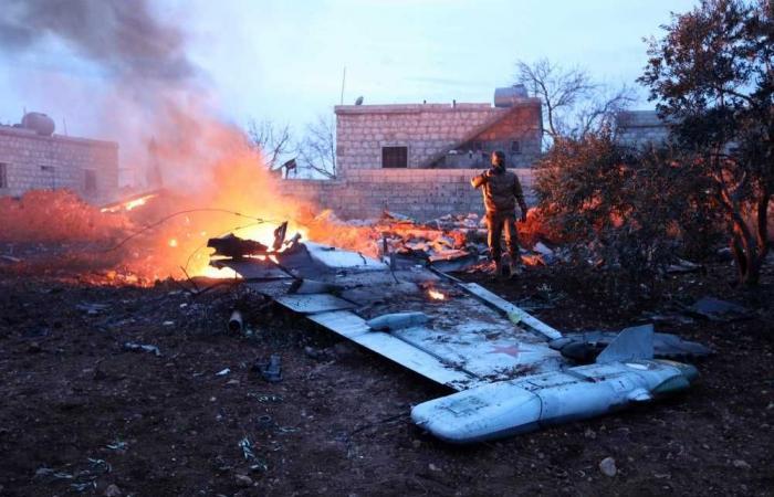 حطام الطائرة الروسية