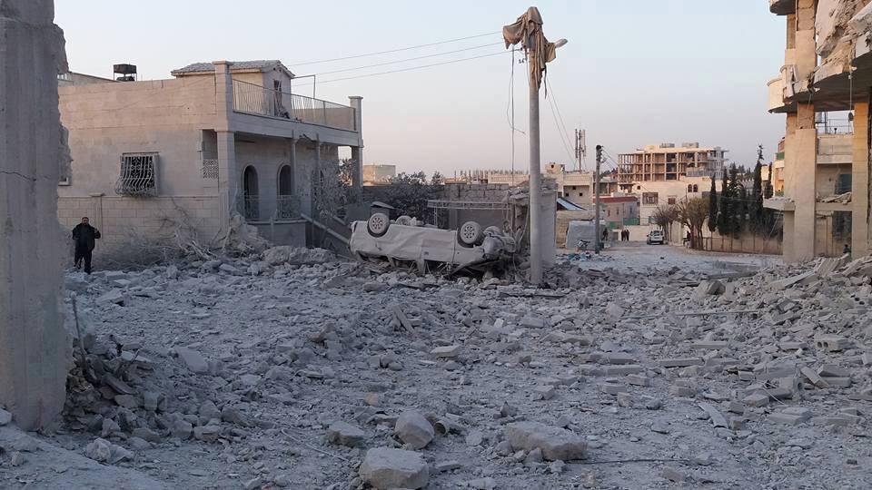 القصف الروسي على جنوب حلب