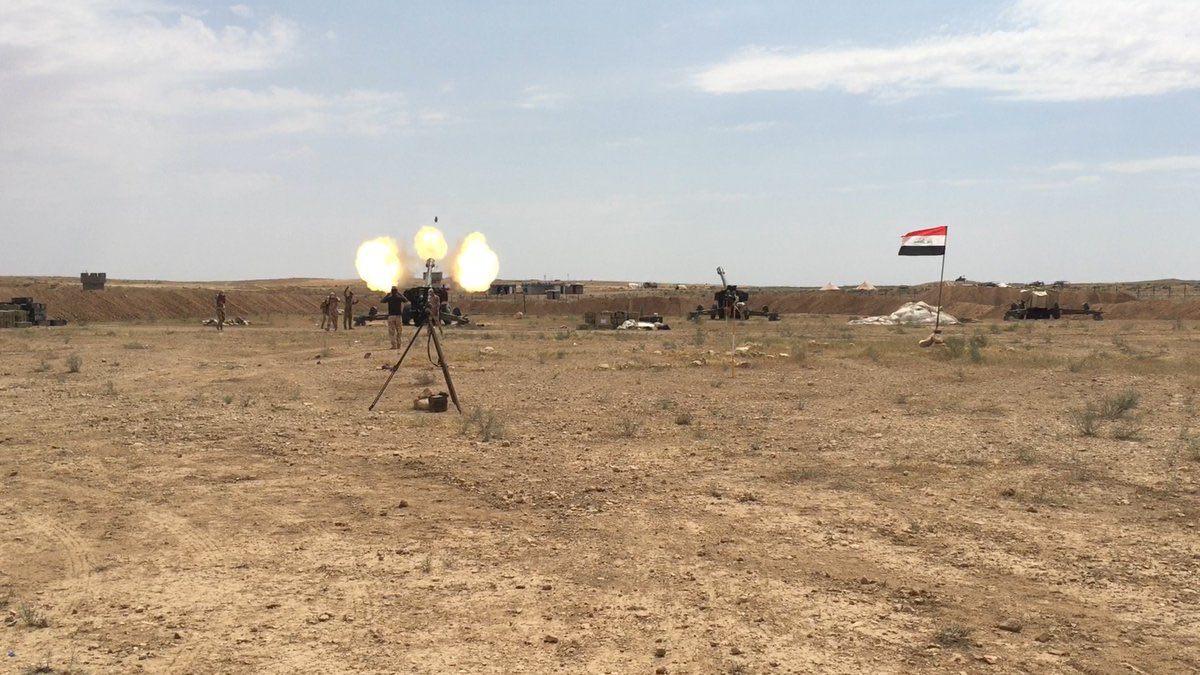 المدفعية العراقية تُمهّد لقسد جنوب الحسكة