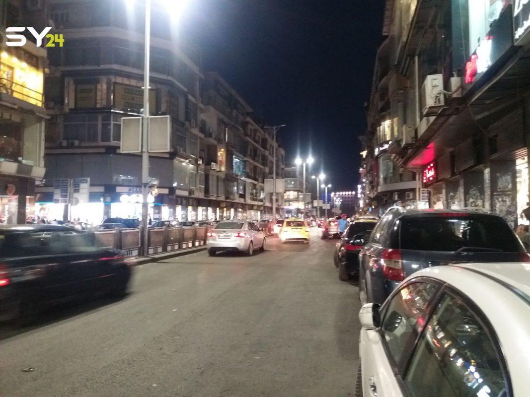 شارع الحمراء وسط العاصمة السورية دمشق