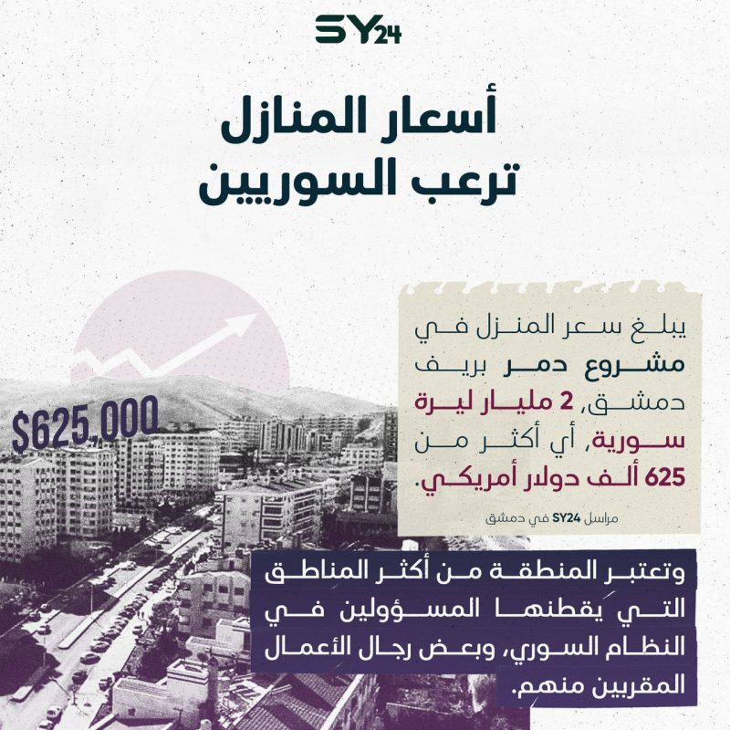 أسعار المنازل ترعب السوريين